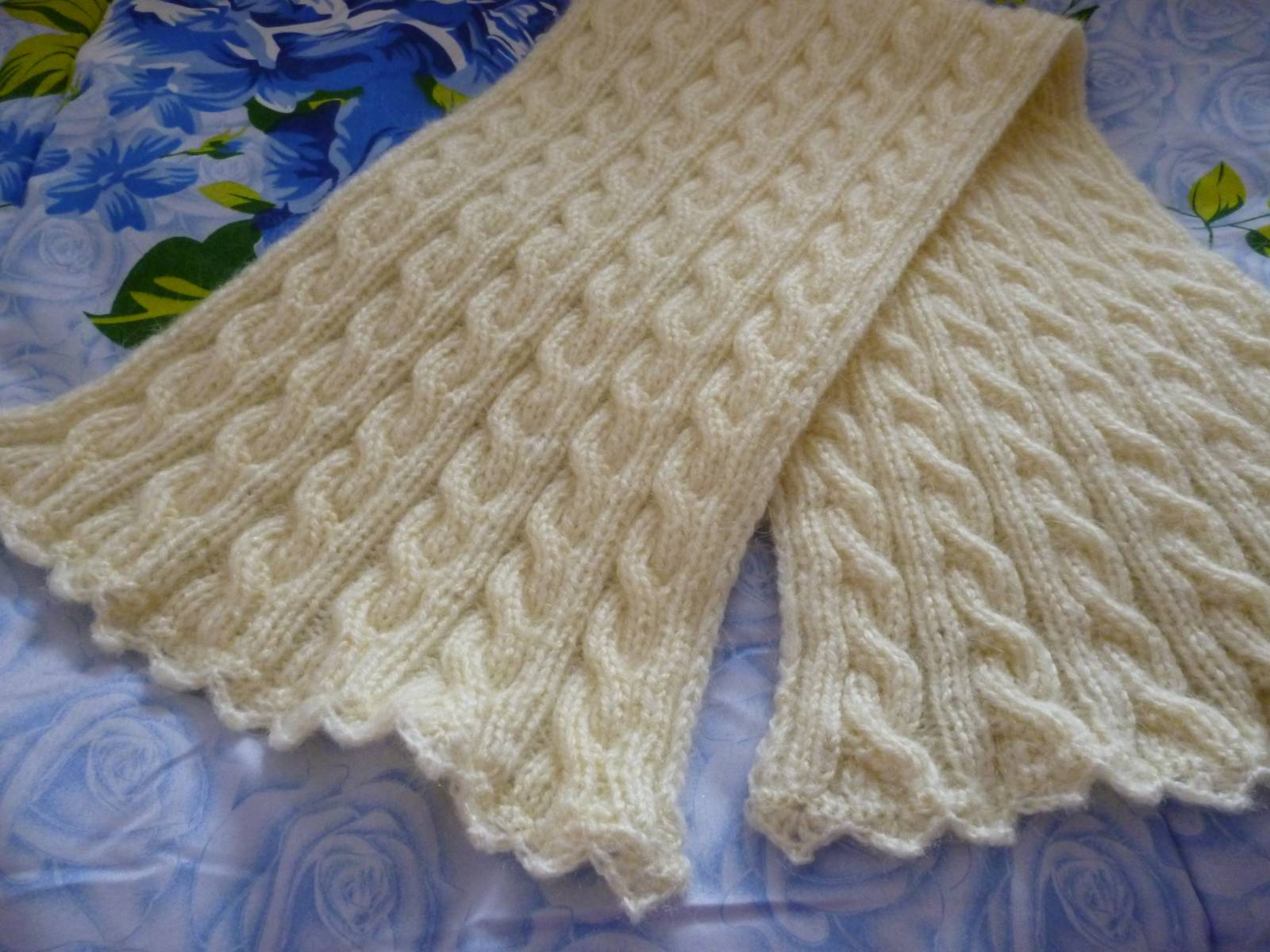 Как обвязать шарф 1